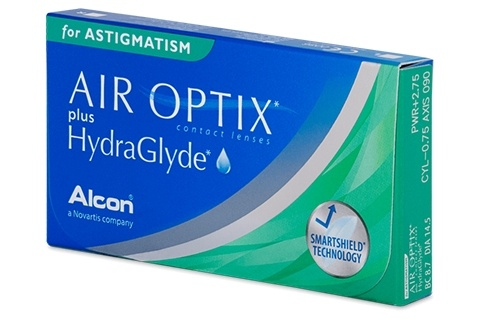 Air Optix plus HydraGlyde for Astigmatism (6 db), havi kontaktlencse