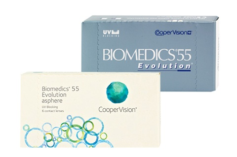 Biomedics 55% Evolution (6 db), havi kontaktlencse
