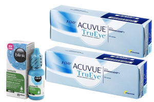 2× 1 Day Acuvue TruEye (30 db) + 1× Blink Contacts (10 ml), napi kontaktlencse + szemcsepp