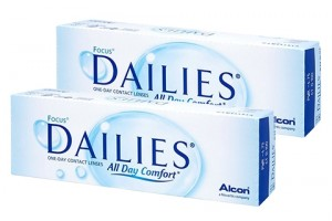 2 doboz Focus Dailies All Day Comfort (30 db), napi kontaktlencse
