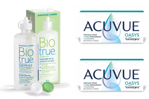 2× Acuvue Oasys with Transitions (6 db) + 1× Biotrue (300 ml)