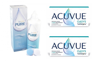 2× Acuvue Oasys with Transitions (6 db) + 1× EyeContact PURE (360 ml)