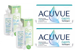 2× Acuvue Oasys with Transitions (6 db) + 2× Biotrue (300 ml)