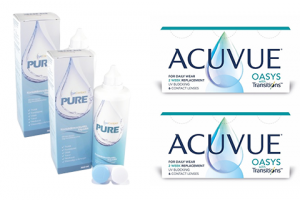 2× Acuvue Oasys with Transitions (6 db) + 2× EyeContact PURE (360 ml)