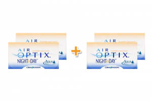 4 doboz Air Optix Night & Day Aqua (6 db), havi kontaktlencse