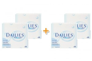 4 doboz Focus Dailies All Day Comfort (90 db), napi kontaktlencse