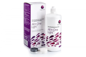 All in One Light (360 ml), kontaktlencse folyadék tokkal