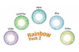 ColourVUE TruBlends One-Day Rainbow Pack 2 (10 db), napi kiemelő színes kontaktlencse